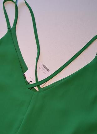 Летнее свободное зеленое платье5 фото