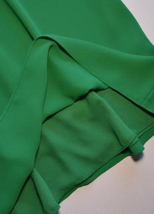 Летнее свободное зеленое платье4 фото