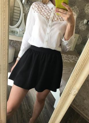 Хлопковая рубашка с ажурной вышивкой