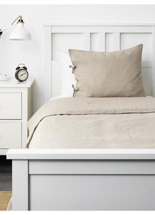 Комплект постельного белья из льна puderviva ikea {пудервива икеа}
