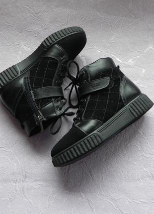 Ботинки демисезонные кожаные lux elite 38 размер 24см стелька