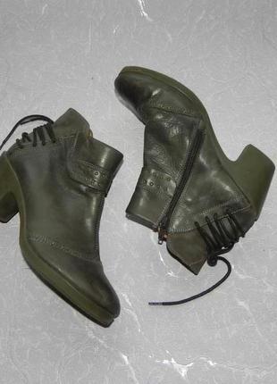 Ботинки демисезонные кожаные 24 см стелька