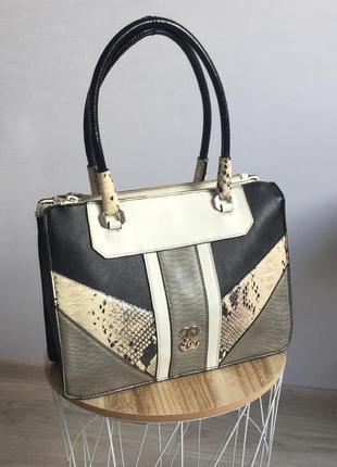 Sale!!! вместительная кожаная сумка guess анималистичный принт