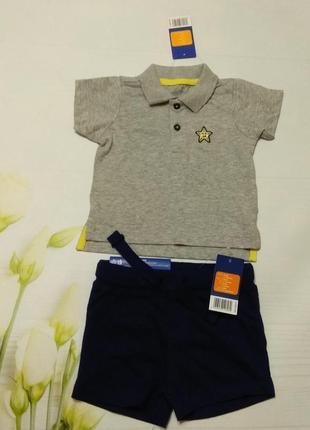Набір шортики та футболка поло від lupilu.