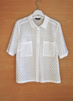 Красивая рубашка блуза из прошвы f&f.