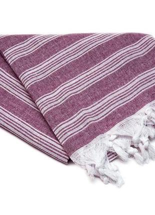 Большое пляжное полотенце пештемаль  бордо