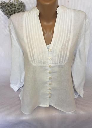 Белая льняная рубашка jaeger