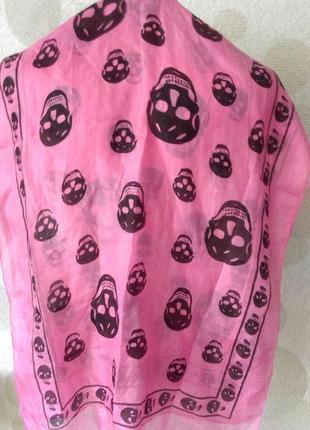 Шелковый платок шарф с черепами