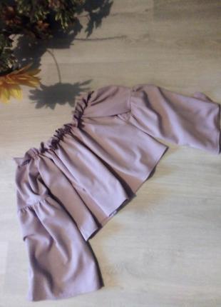 Укороченная брендовая блузка