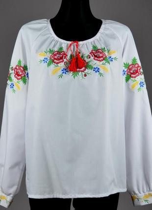 Красива вишита жіноча блузка
