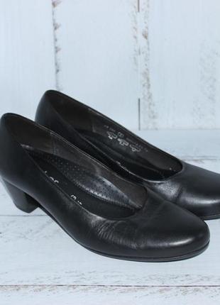 Gabor кожаные эллегантные туфли офисного стиля