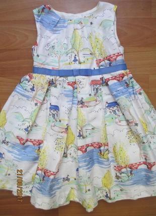 Милое платье john lewis на 1,5-2,0 года