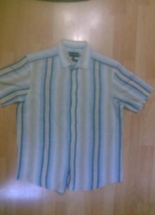 Фирменная рубашка лен+хлопок m