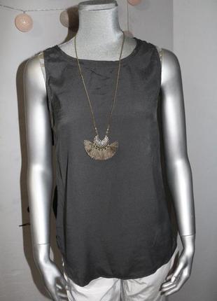 Серый шелковый топ майка gc fontana