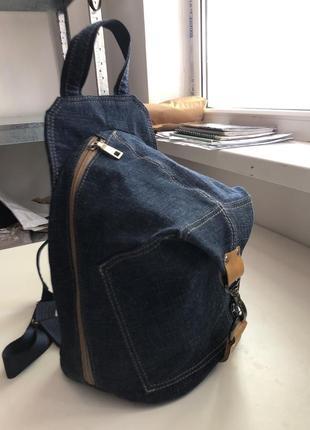 Рюкзак джинсовый, с вышивкой