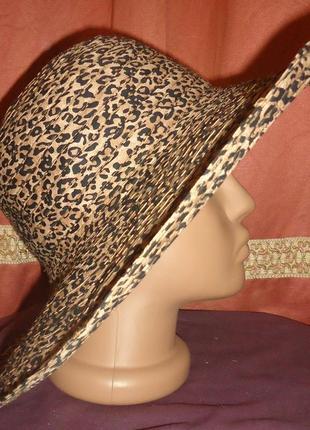 Шляпа хит сезона , принт леопард