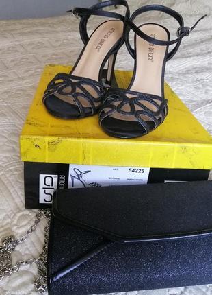 Босоножки на каблуке + клатч