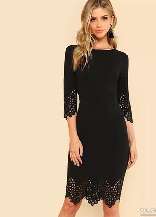 Шикарное и  интригующее платье с перфорацией
