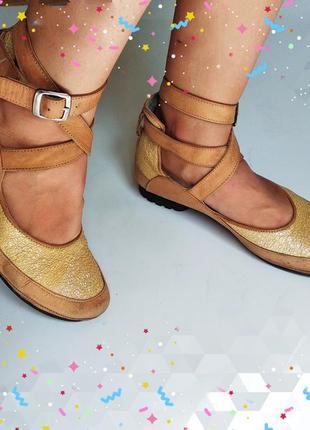 Кожаные балетки пуанты dutch charme