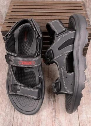 Серые мужские босоножки сандалии сахабы спортивные на липучках