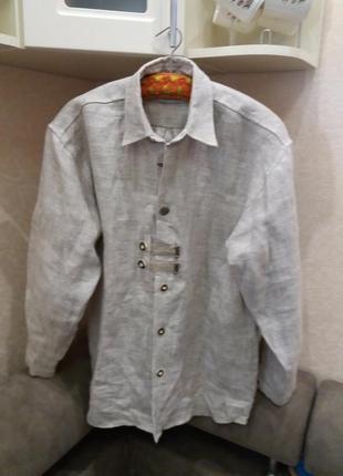 Льняная рубашка. немецкое качество. бренд- c&a-----------лен-100%