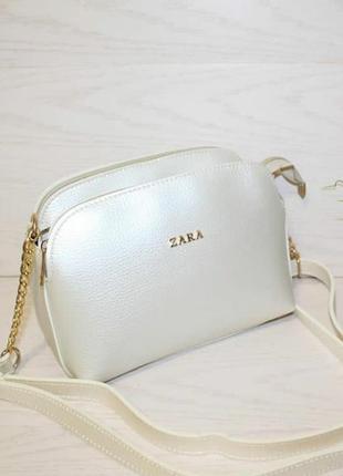 Новая перламутровая сумка zara