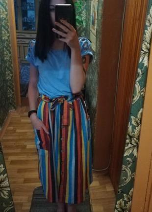 Легкая хлопковая юбка