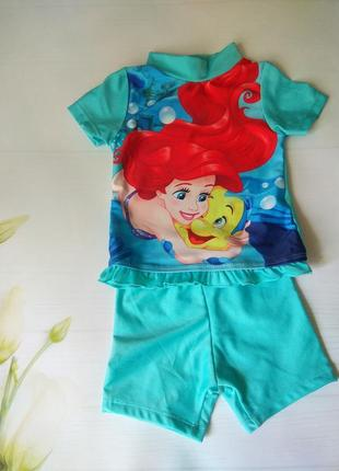Пляжний купальний комплект футболка та шортики.