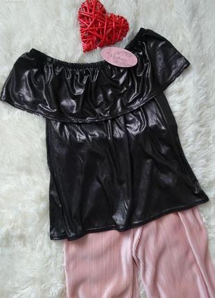Блуза с воланом emile франция размер xs-s