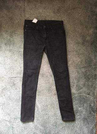 Сірі джинси levis штани