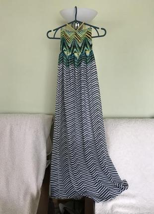 Легкое летнее шифоновое платье в пол