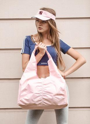 Женская спортивная сумка с вентиляцией для обуви. розовая