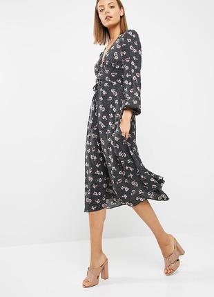 Платье цветочный принт new look