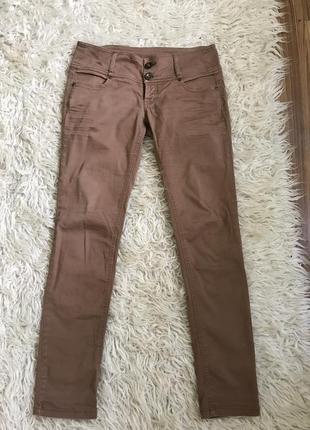 Хлопковые стрейчевые штаны