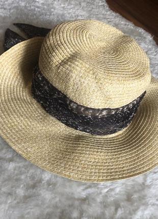 Пляжная шляпа с полями соломенная шляпа marks&spencer