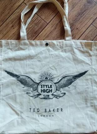 Тканевая сумка style high club ted baker