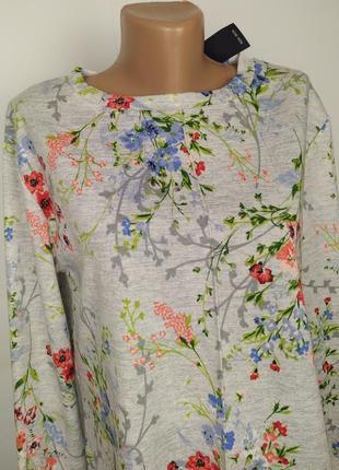 Блуза кофточка новая красивая в цветочный принт marks&spencer uk 10/38/s2 фото