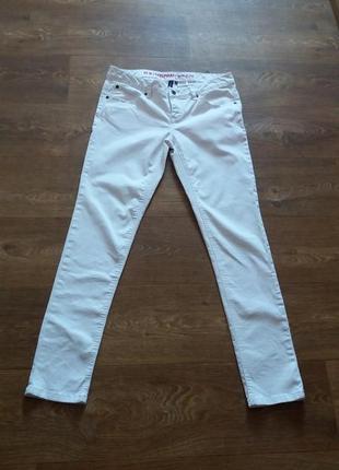 Белые джинсы-скини rainbow размер 40