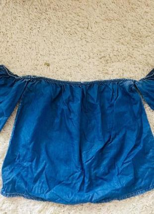 Блуза с опущеними плечами 20192 фото