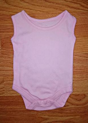 Легкий летний трикотажный боди - песочник для девочки tu - возраст 0-3 месяца