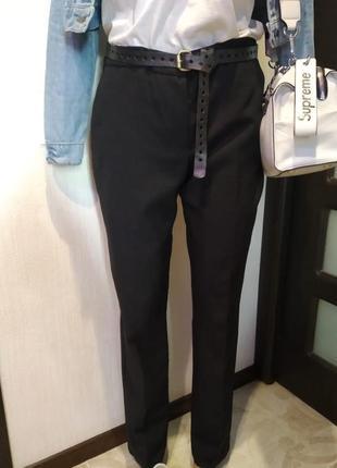 Базовые брюки штаны черные зауженные к низу длинные