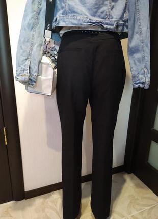 Базовые брюки штаны черные зауженные к низу длинные3 фото