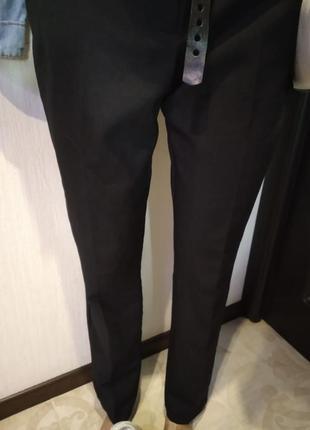 Базовые брюки штаны черные зауженные к низу длинные4 фото