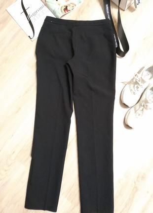 Базовые брюки штаны черные зауженные к низу длинные6 фото