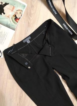 Базовые брюки штаны черные зауженные к низу длинные7 фото