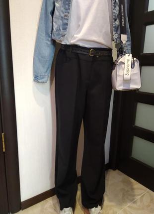 Отличные черные брюки штаны прямые в пол3 фото