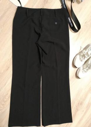 Отличные черные брюки штаны прямые в пол5 фото