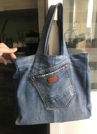 Джинсова сумка1 фото