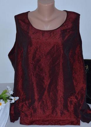 Брендовая бордовая блуза без рукавов топ charles voegele grandiosa большой размер