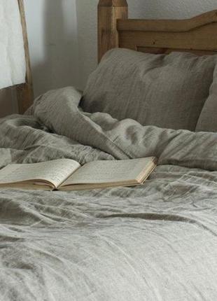 Лен небеленый, комплект постельного белья
